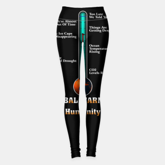 Miniaturka Global Warming A War On Humanity Leggings, Live Heroes