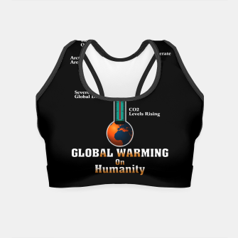 Thumbnail image of Global Warming A War On Humanity Crop Top, Live Heroes