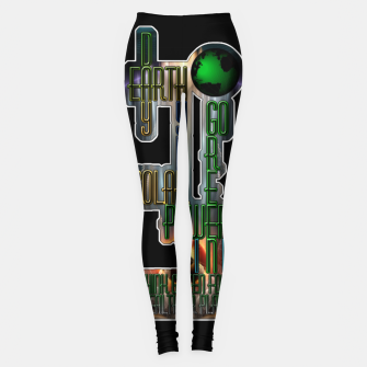 Miniaturka Earth Day Go Green You Are The Solution Leggings, Live Heroes