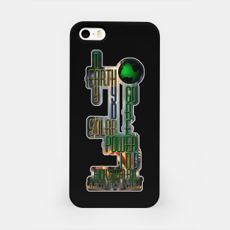 Miniaturka Earth Day Go Green You Are The Solution iPhone Case, Live Heroes