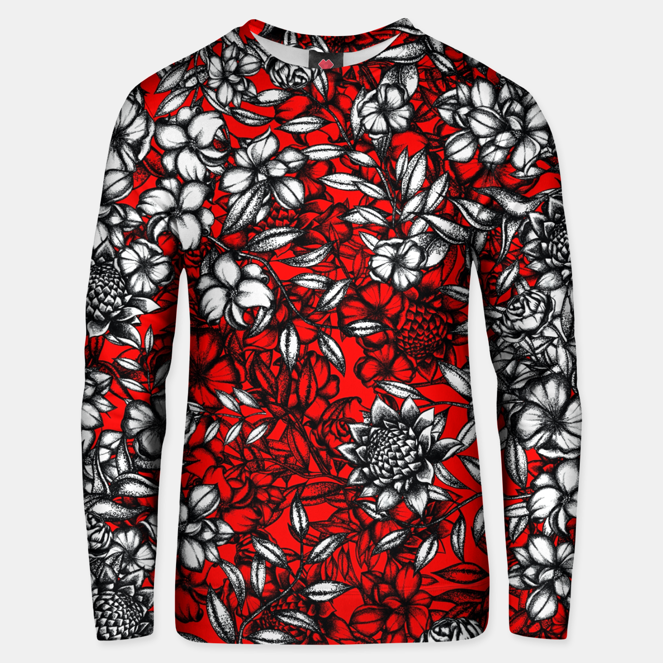 Image of White Flowers Unisex sweater - Live Heroes