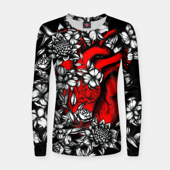 Imagen en miniatura de Red Skelleton Women sweater, Live Heroes