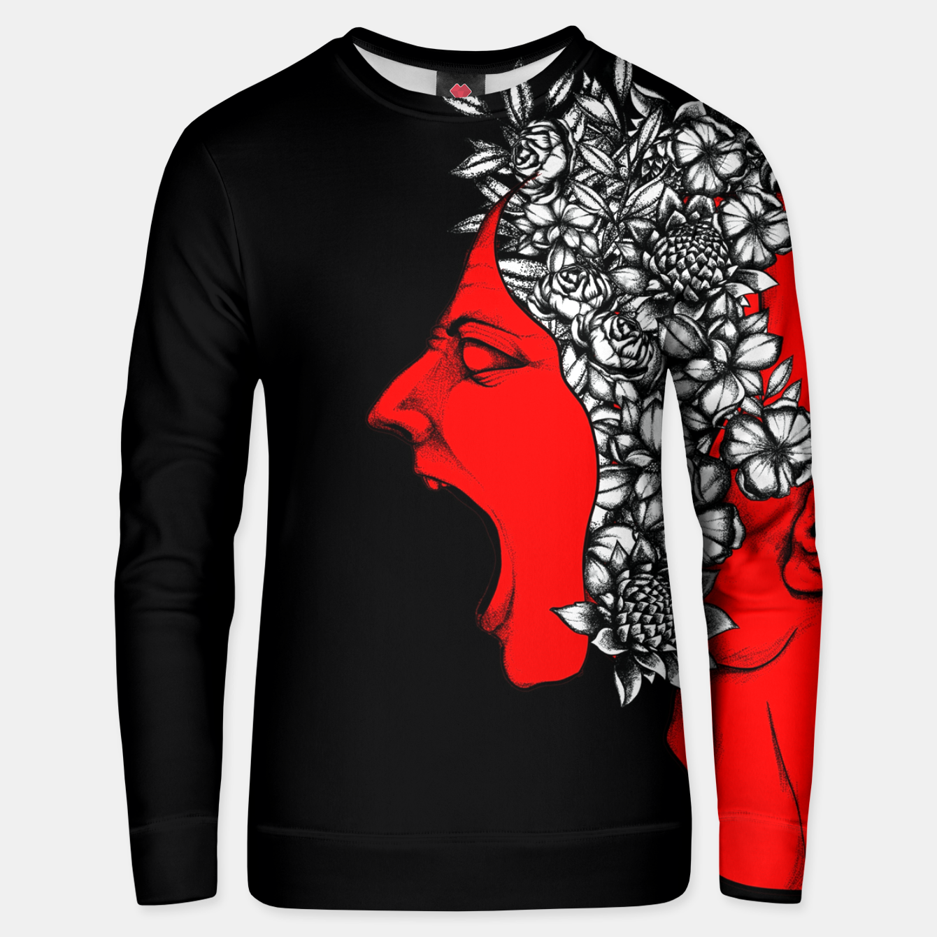 Image of Red Scream Unisex sweater - Live Heroes