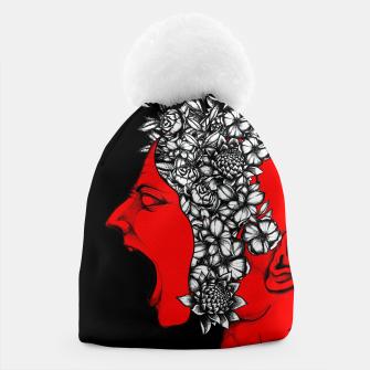 Thumbnail image of Red Scream Beanie, Live Heroes