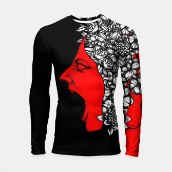 Thumbnail image of Red Scream Longsleeve rashguard , Live Heroes
