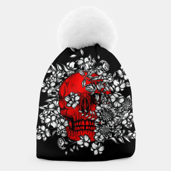 Thumbnail image of Red Skull Beanie, Live Heroes