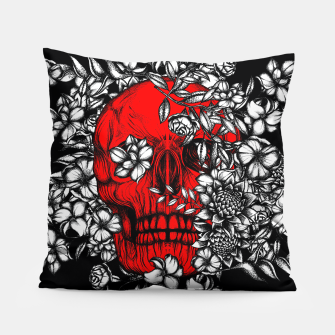 Thumbnail image of Red Skull Pillow, Live Heroes