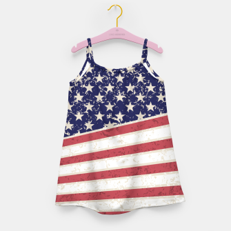 Thumbnail image of Hot Dye Stars & Stripes Vintage Girl's Dress, Live Heroes