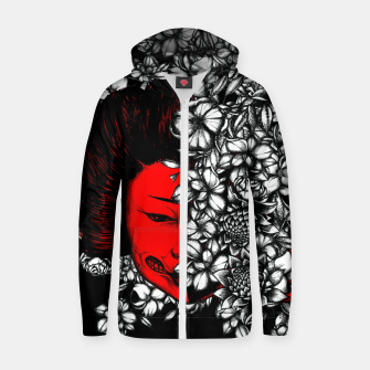 Thumbnail image of Red Geisha Zip up hoodie, Live Heroes