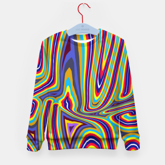 Thumbnail image of Curly Swirls Kid's sweater, Live Heroes