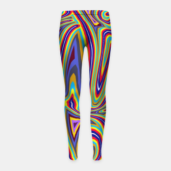 Thumbnail image of Curly Swirls Girl's leggings, Live Heroes