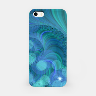 Thumbnail image of Blue Green Bokeh Fractal iPhone Case, Live Heroes