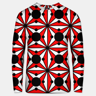 Miniatur Abstract geometric pattern - red, black and white. Unisex sweater, Live Heroes
