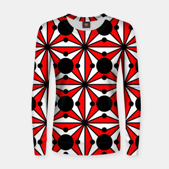 Miniatur Abstract geometric pattern - red, black and white. Women sweater, Live Heroes