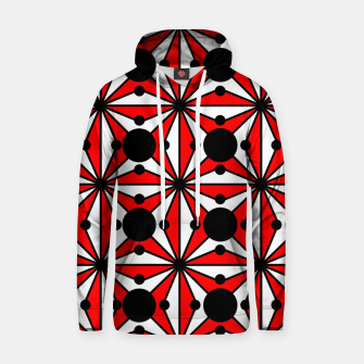 Miniatur Abstract geometric pattern - red, black and white. Hoodie, Live Heroes