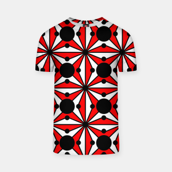 Miniatur Abstract geometric pattern - red, black and white. T-shirt, Live Heroes