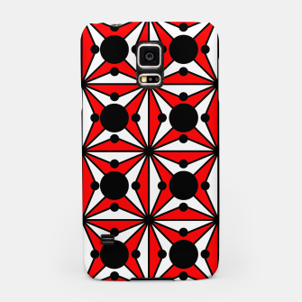 Miniaturka Abstract geometric pattern - red, black and white. Samsung Case, Live Heroes