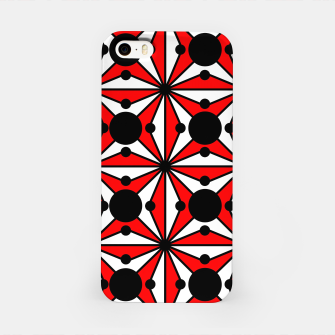 Miniatur Abstract geometric pattern - red, black and white. iPhone Case, Live Heroes