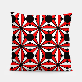 Thumbnail image of Abstract geometric pattern - red, black and white. Pillow, Live Heroes