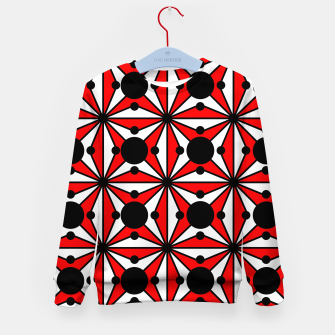 Thumbnail image of Abstract geometric pattern - red, black and white. Kid's sweater, Live Heroes