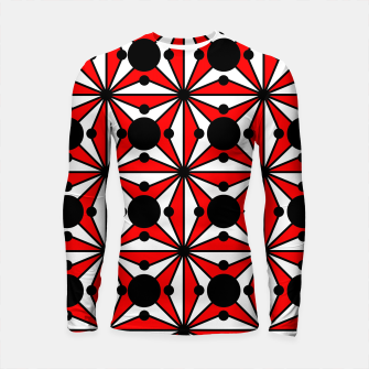 Thumbnail image of Abstract geometric pattern - red, black and white. Longsleeve rashguard , Live Heroes