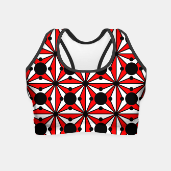Miniatur Abstract geometric pattern - red, black and white. Crop Top, Live Heroes