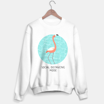 Miniatur Social distancing mode by pink flamingo Sweater regular, Live Heroes
