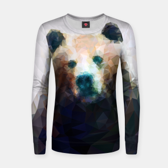 Miniature de image de Bear Grizzly Low Poly Geometric Animal Wildlife Women sweater, Live Heroes