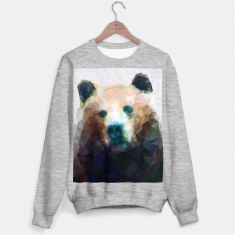 Miniature de image de Bear Grizzly Low Poly Geometric Animal Wildlife Sweater regular, Live Heroes