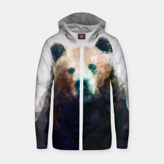 Miniature de image de Bear Grizzly Low Poly Geometric Animal Wildlife Zip up hoodie, Live Heroes