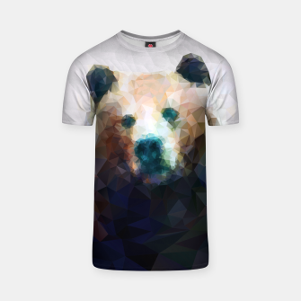 Miniature de image de Bear Grizzly Low Poly Geometric Animal Wildlife T-shirt, Live Heroes