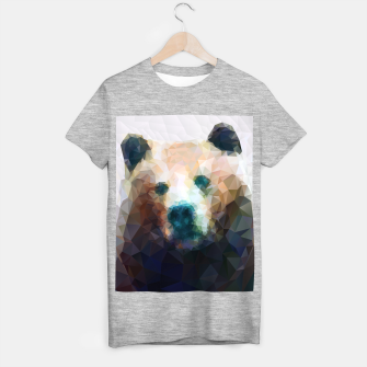 Miniature de image de Bear Grizzly Low Poly Geometric Animal Wildlife T-shirt regular, Live Heroes