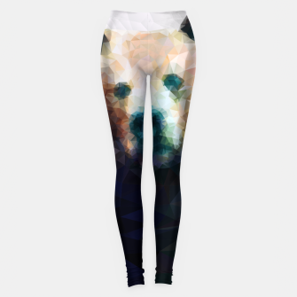 Miniature de image de Bear Grizzly Low Poly Geometric Animal Wildlife Leggings, Live Heroes