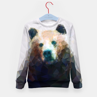 Miniature de image de Bear Grizzly Low Poly Geometric Animal Wildlife Kid's sweater, Live Heroes