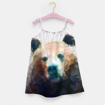 Thumbnail image of Bear Grizzly Low Poly Geometric Animal Wildlife Girl's dress, Live Heroes