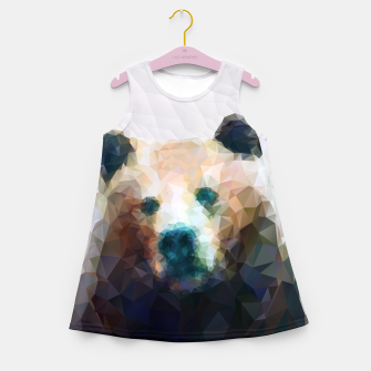 Miniature de image de Bear Grizzly Low Poly Geometric Animal Wildlife Girl's summer dress, Live Heroes
