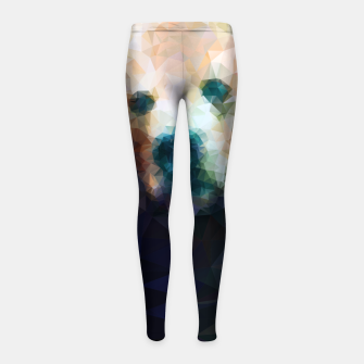 Miniature de image de Bear Grizzly Low Poly Geometric Animal Wildlife Girl's leggings, Live Heroes