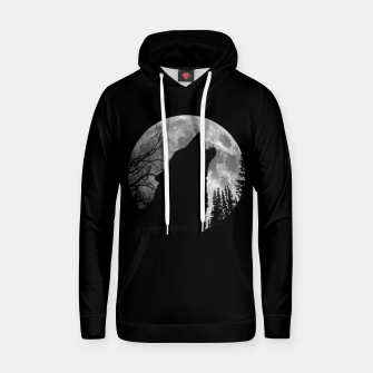 Miniaturka Wild Wolf Howling to the Full Moon Galaxy  Hoodie, Live Heroes