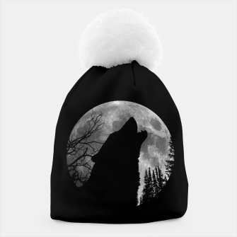 Miniaturka Wild Wolf Howling to the Full Moon Galaxy  Beanie, Live Heroes