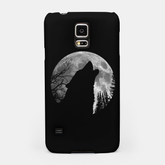 Miniaturka Wild Wolf Howling to the Full Moon Galaxy  Samsung Case, Live Heroes
