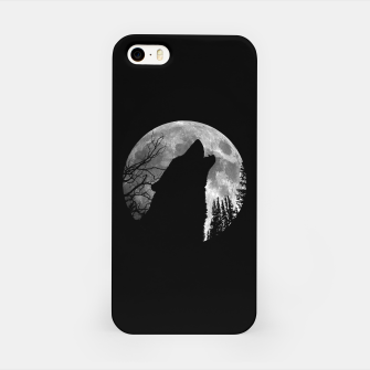 Miniaturka Wild Wolf Howling to the Full Moon Galaxy  iPhone Case, Live Heroes