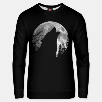 Miniaturka Wild Wolf Howling to the Full Moon Galaxy  Unisex sweater, Live Heroes