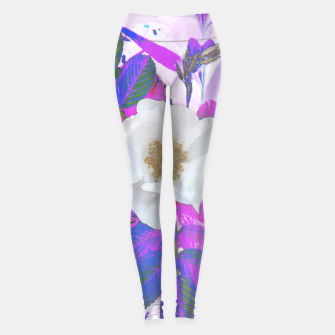 Thumbnail image of wild white rose Legginsy, Live Heroes
