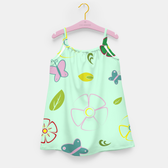 Thumbnail image of Flowers garden on green Vestido para niñas, Live Heroes