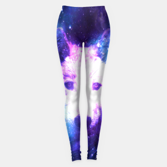 Miniaturka Galaxy Wolf Star White Colorful Animal Wildlife Nature Leggings, Live Heroes