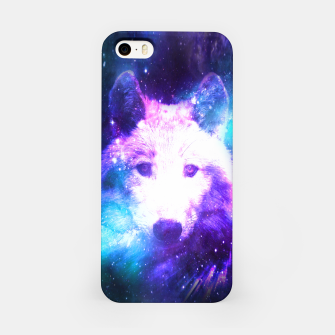 Miniaturka Galaxy Wolf Star White Colorful Animal Wildlife Nature iPhone Case, Live Heroes