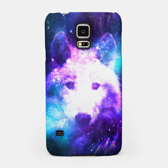 Miniaturka Galaxy Wolf Star White Colorful Animal Wildlife Nature Samsung Case, Live Heroes