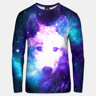 Miniaturka Galaxy Wolf Star White Colorful Animal Wildlife Nature Unisex sweater, Live Heroes