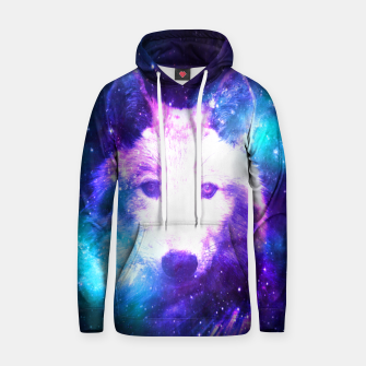 Miniaturka Galaxy Wolf Star White Colorful Animal Wildlife Nature Hoodie, Live Heroes