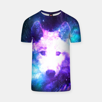 Miniaturka Galaxy Wolf Star White Colorful Animal Wildlife Nature T-shirt, Live Heroes